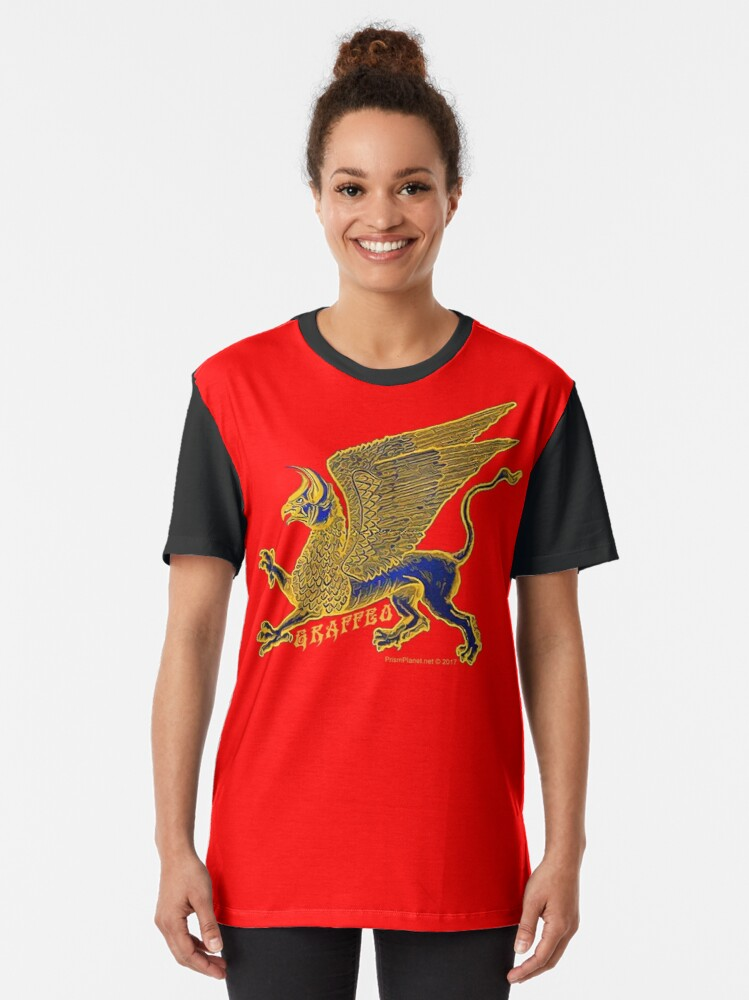 Alternate view of Gold Griffin Graphic T-Shirt
