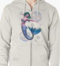 Sudadera con capucha y cremallera Mermaid in Bubbles