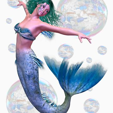 Mermaid in Bubbles by LoneAngel