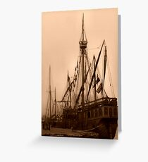 tallship Greeting Card