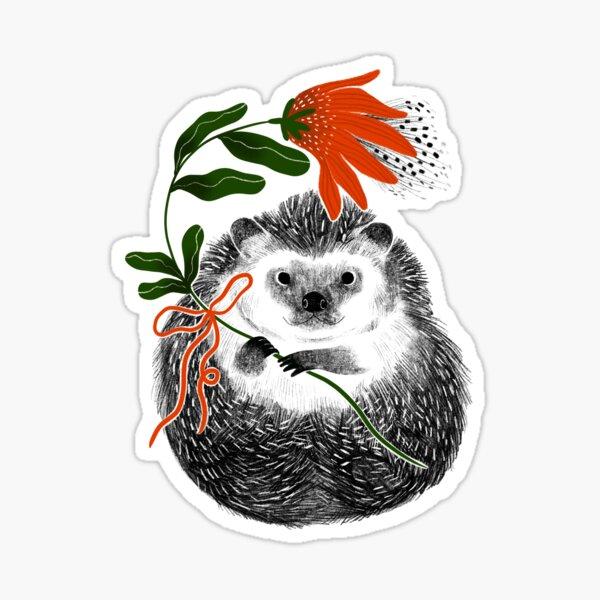 Friendly Hedgehog Sticker