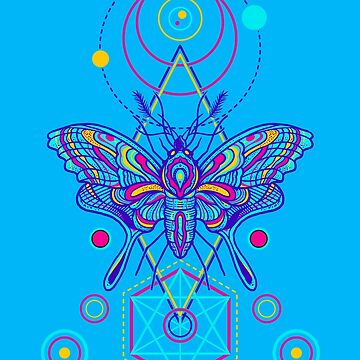 Sassy Neon Goth Moth by machmigo
