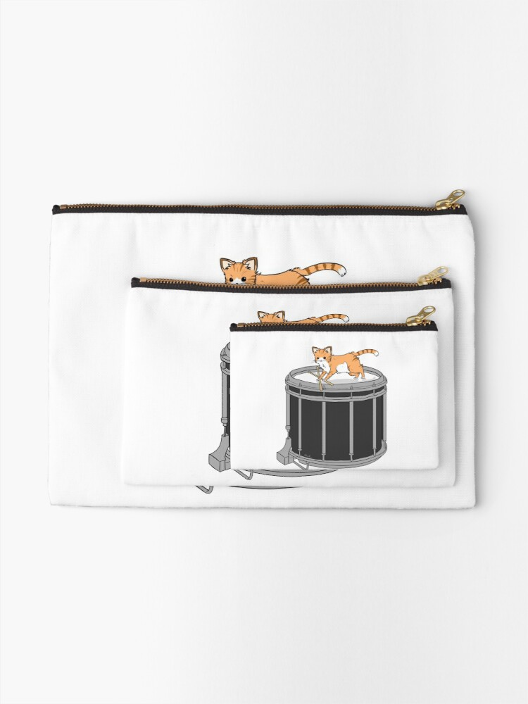 Alternate view of Drum cat Zipper Pouch