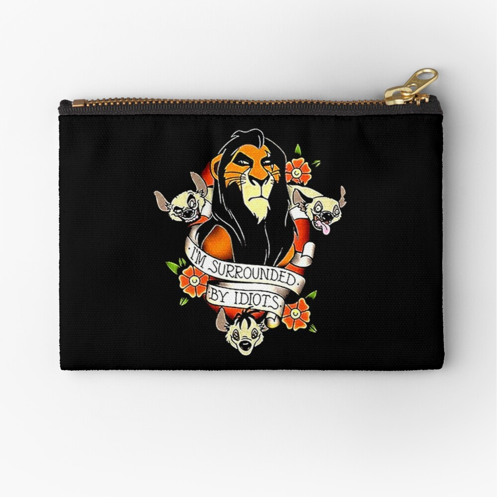 King Scar Surrounded Zipper Pouch