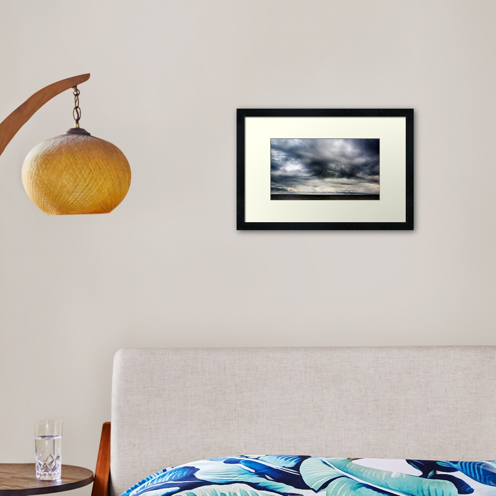 Berwick Upon Tweed Stormy Sky Seascape Framed Art Print
