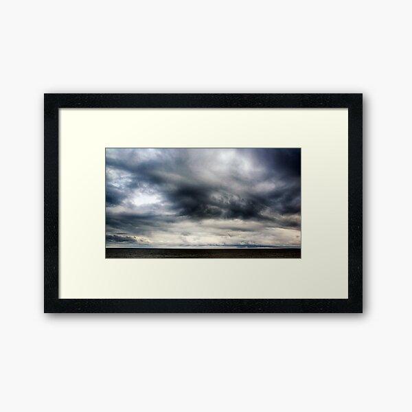 Berwick Upon Tweed Stormy Sky Seascape Framed Art Print