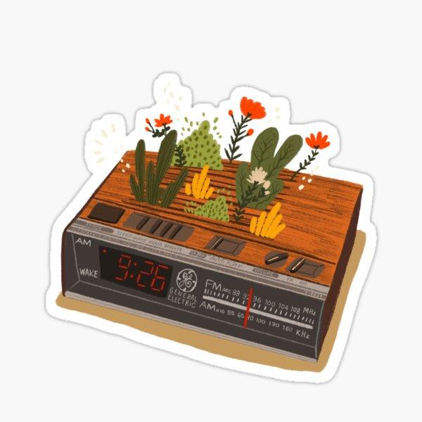 Vintage Alarm Clock, General Electric Sticker