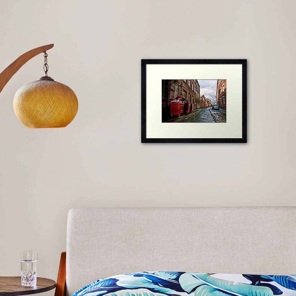 Back Street, Kelham Island, Sheffield Framed Art Print