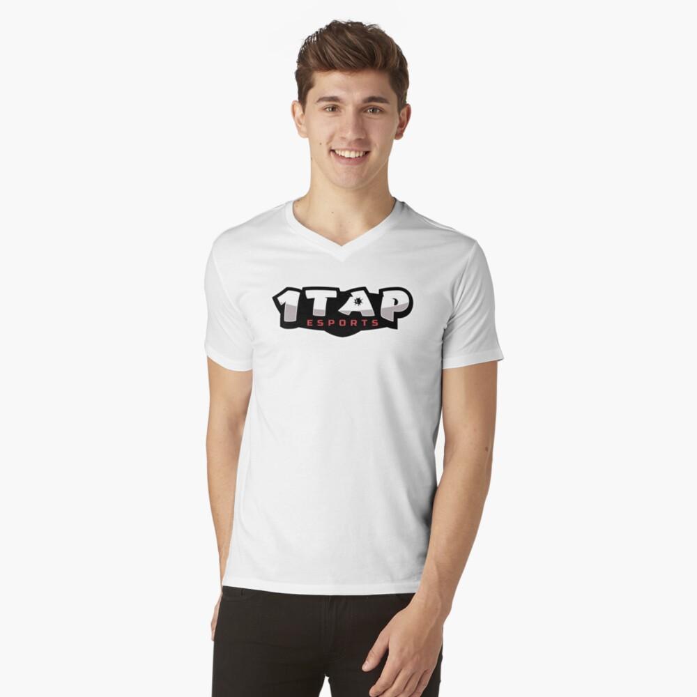 1Tap Esports Logo V-Neck T-Shirt