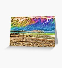 Colourful Cromer Pier Greeting Card