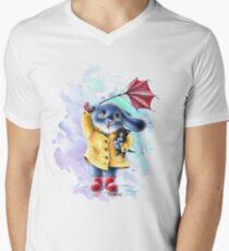 Benny Blue - Kitten Men's V-Neck T-Shirt