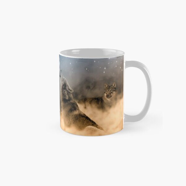Wolves Howling in the Moonlight Classic Mug