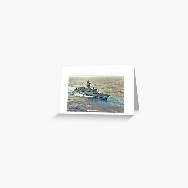 USS MARVIN SHIELDS PHOTO Greeting Card