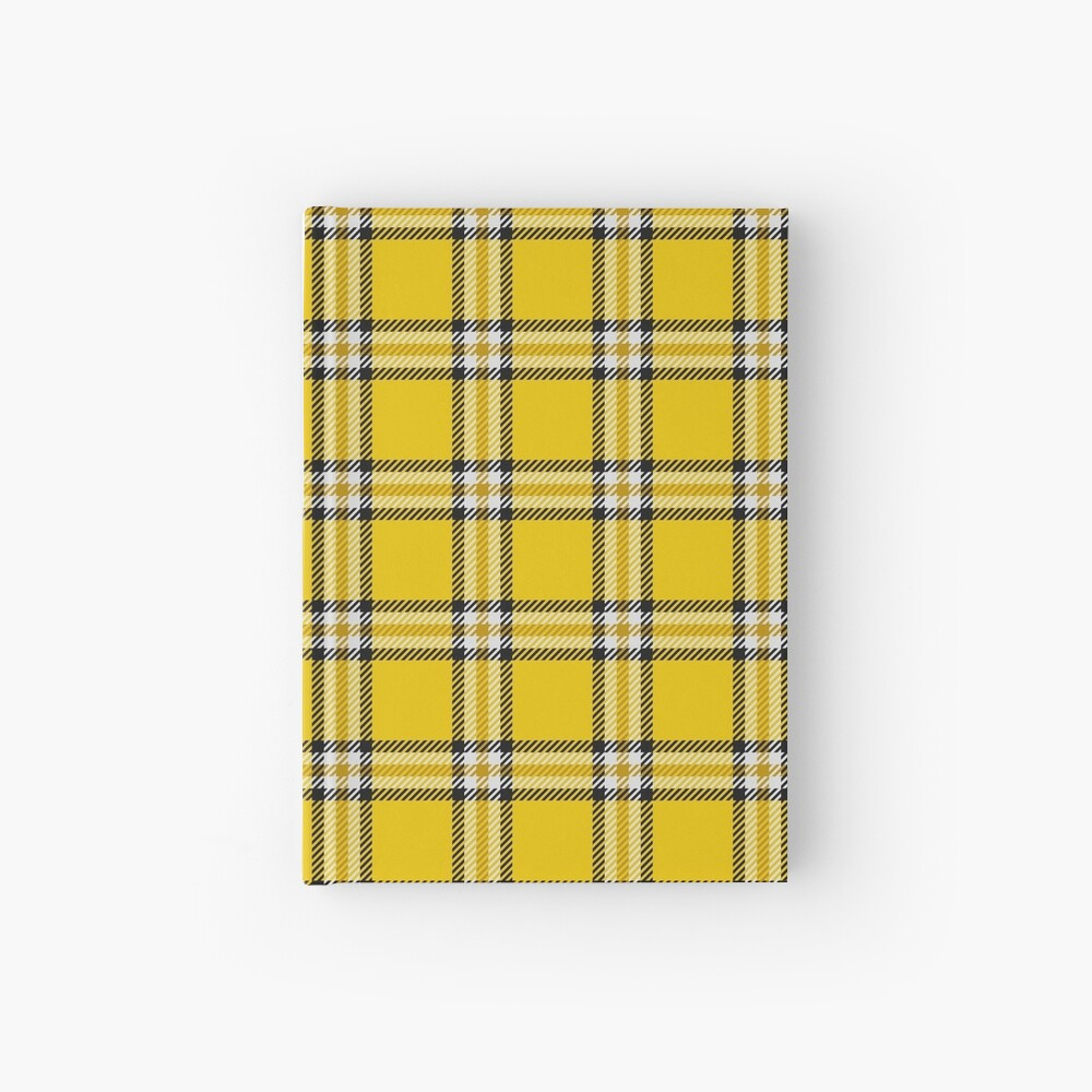 Cher's Tartan Dress from Clueless, variation 2 Hardcover Journal