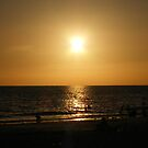 Sihouette beach scene by SERENA Boedewig