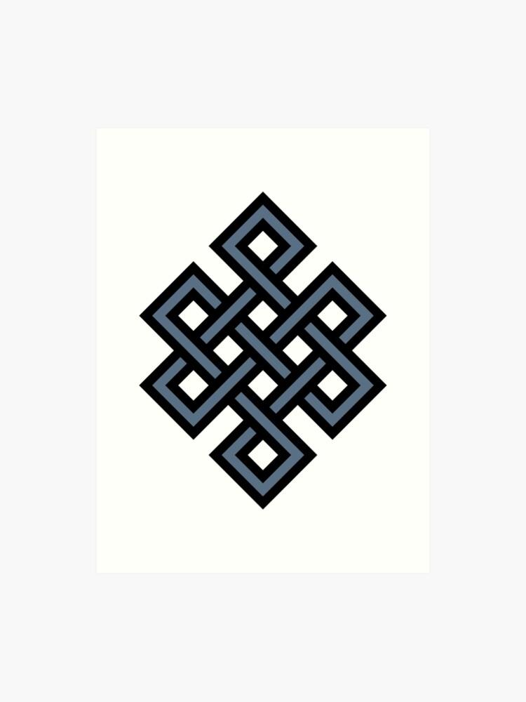 Endless Knot Buddhist Symbol Buddha Buddhism | Art Print