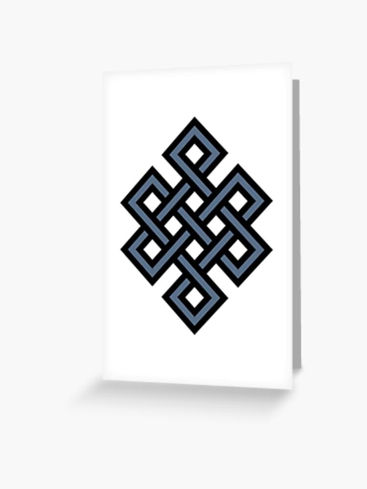 Endless Knot Buddhist Symbol Buddha Buddhism | Greeting Card