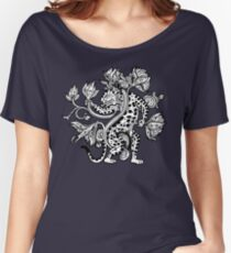 Mayan Jaguar with Lotus Women's Relaxed Fit T-Shirt