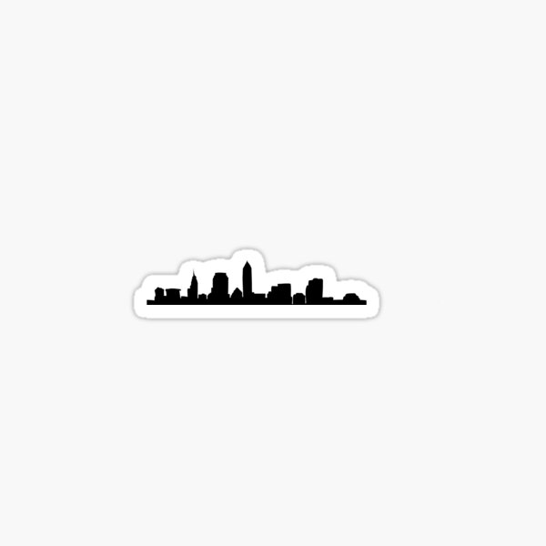Cleveland Ohio Skyline: I Sticker