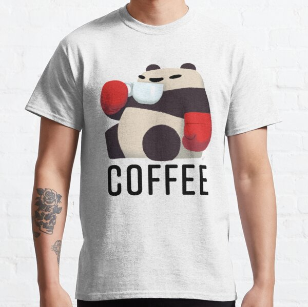 Panda Enjoying Cup of Joe Classic T-Shirt