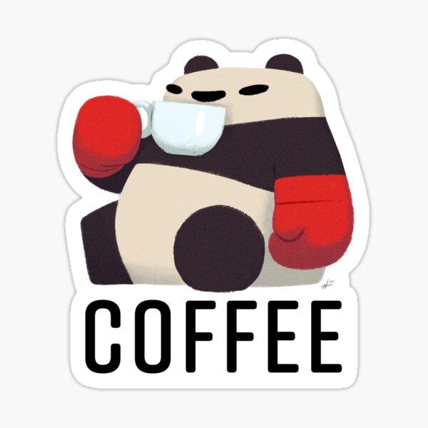 Panda Enjoying Cup of Joe Sticker
