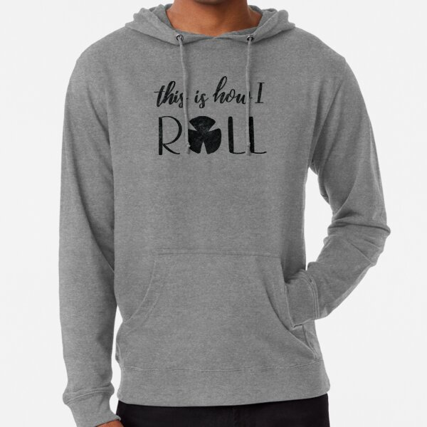 Pork Roll This Is How I Roll - Distressed  Lightweight Hoodie