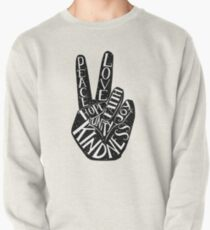 Peace Sign with words Peace, Love, Faith, Joy, Hope, Kindness, Unity Pullover