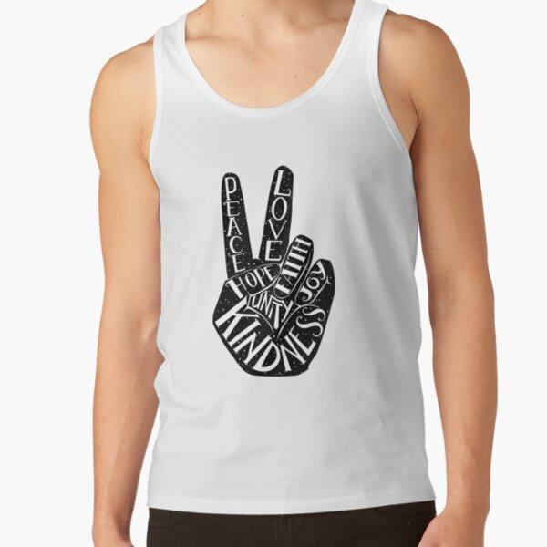 Peace Sign with words Peace, Love, Faith, Joy, Hope, Kindness, Unity Tank Top