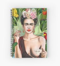 Frida con amigos Spiral Notebook
