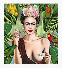 Frida con amigos Photographic Print
