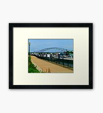 JULIEN DUBUQUE BRIDGE Framed Print