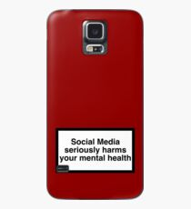 social media warnhinweis Hülle & Klebefolie für Samsung Galaxy