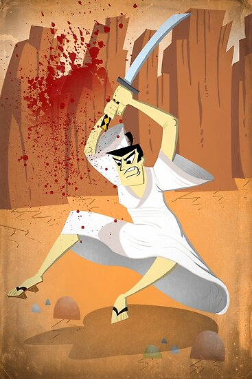 Samurai Jack, Sam, Jack, Art, Wall Art illustration, drawing, home ...