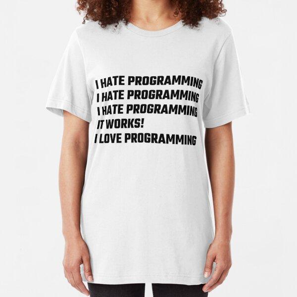 I Love Programming Slim Fit T-Shirt