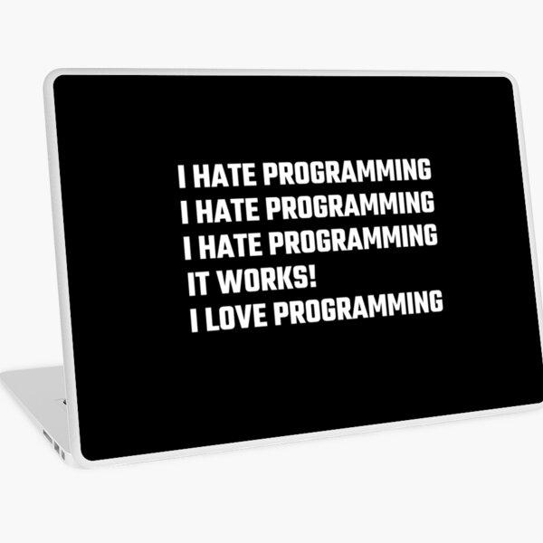 I Love Programming Laptop Skin