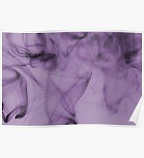 Smoldering Smoke Muted Pastel 003 Poster
