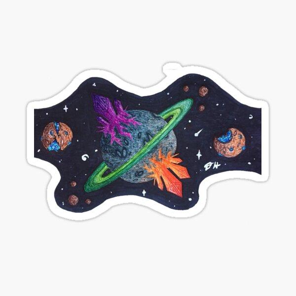 Planet G1 w/ Moons Sticker