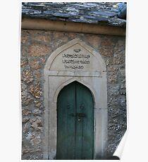 Door at the Koski Mehmed pasa Mosque Poster