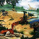 Dinosaur Picnic by maryannart-com