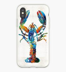 Colorful Lobster Art by Sharon Cummings iPhone Case