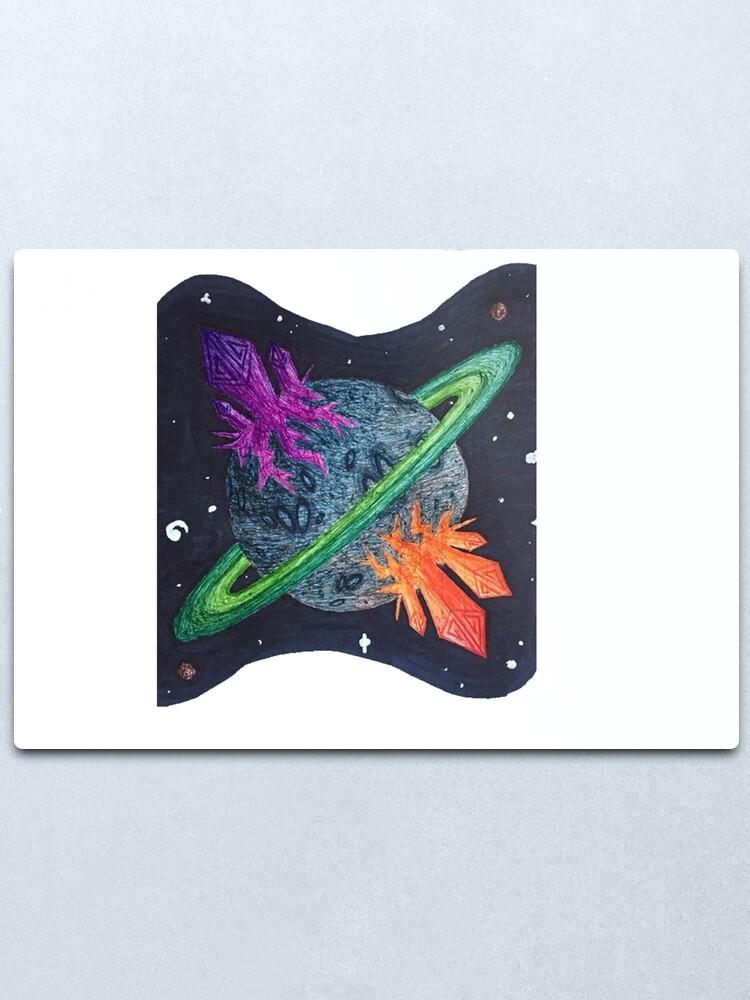 Alternate view of Planet G1 Metal Print