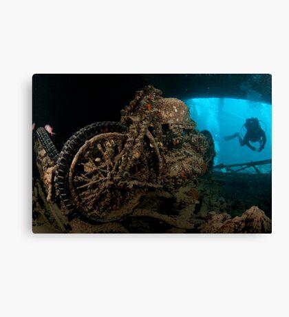 Sunken Motorbike - Thistlegorm Canvas Print