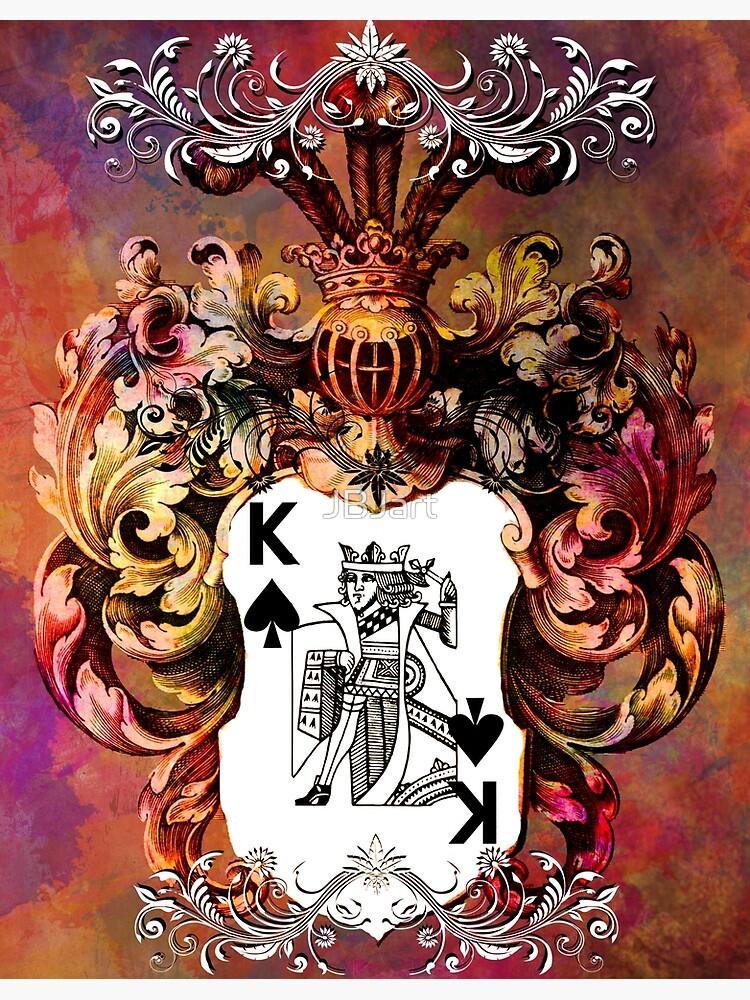 Poker King Spades colored by JBJart