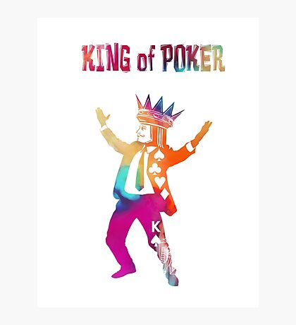 King of Poker colored Photographic Print