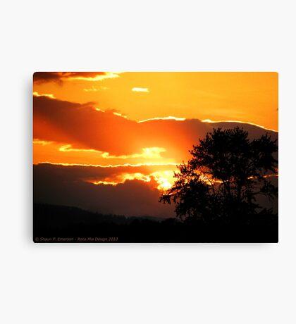 Sky's on Fire Canvas Print