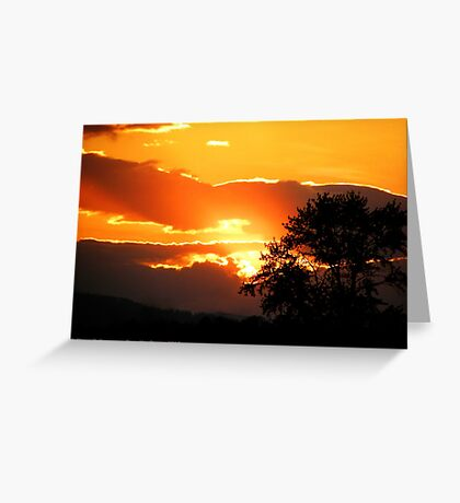 Sky's on Fire Greeting Card