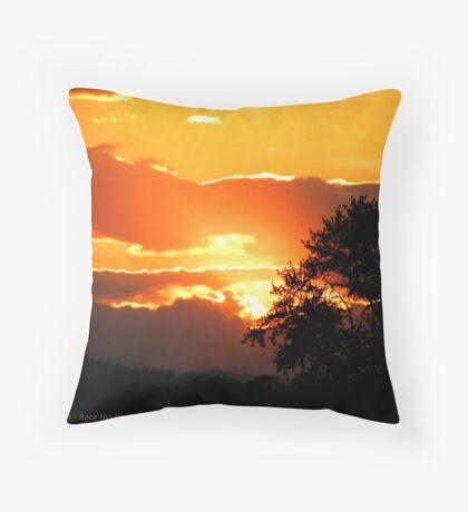 Sky's on Fire Throw Pillow
