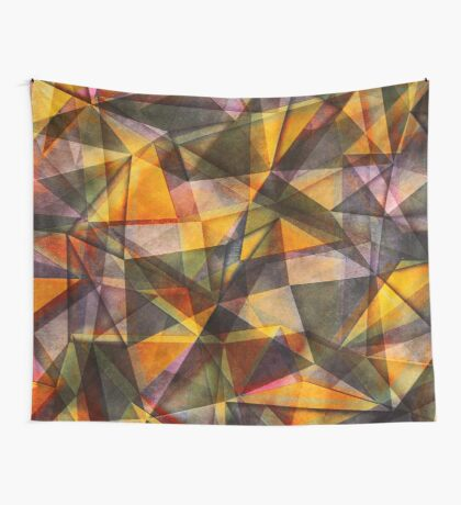 triangles yellow orange Wall Tapestry