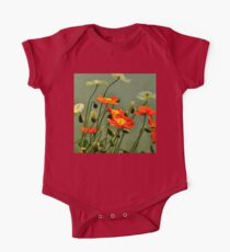 California Poppies  One Piece - Short Sleeve