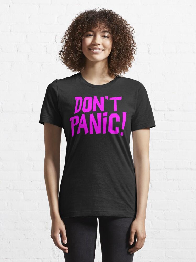 Alternate view of NDVH Don't Panic - Magenta 1 H2G2 Essential T-Shirt